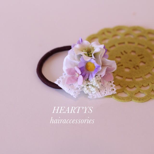*小さなブーケのヘアゴム♪【送料無料】