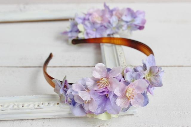 桜の花と(カチューシャ)