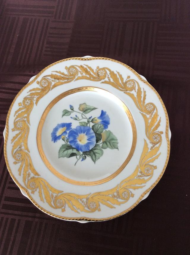 昼顔の金彩皿
