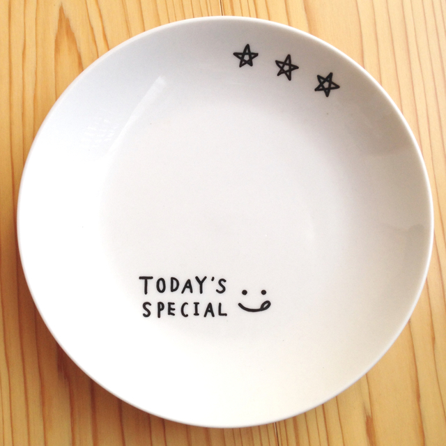 TODAY'S SPECIAL? シンプルプレート中皿