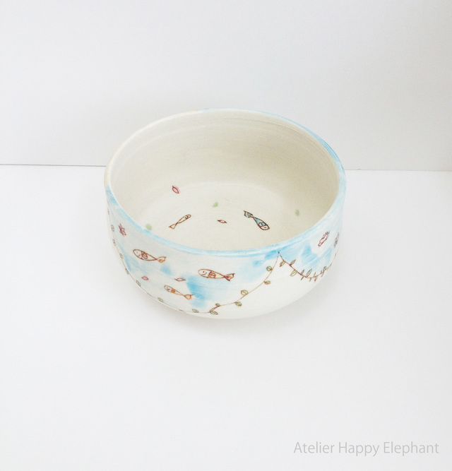 おさかな模様の小鉢