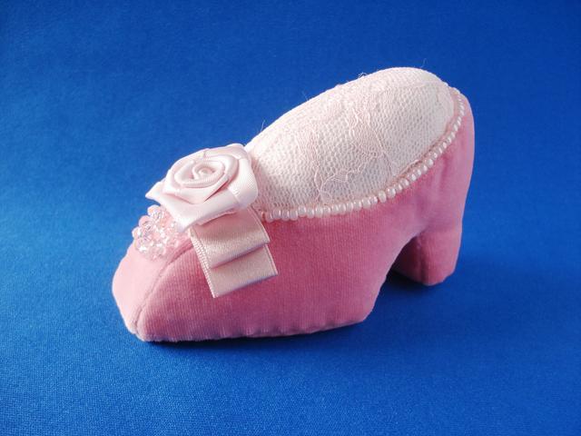ピンクッション 靴型(コーラルピンク)