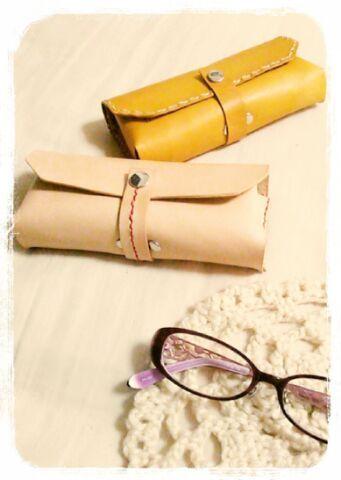 【受注製作】なめし革のメガネケース