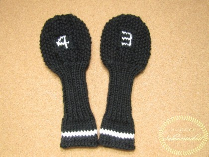 鹿の子編みのヘッドカバー