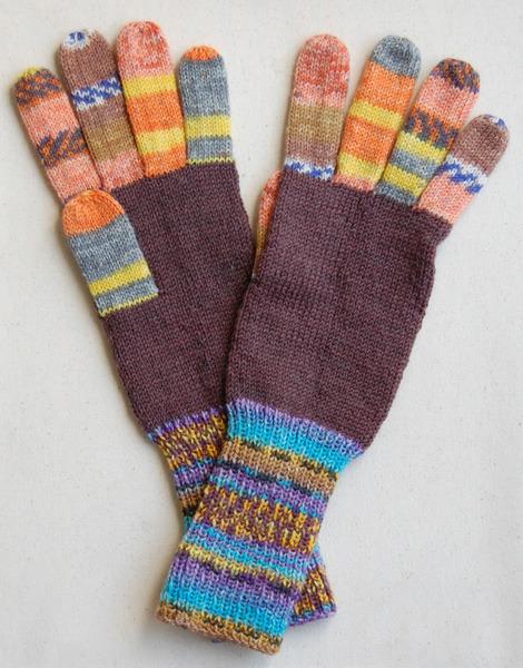 手編み5本指手袋 No.23