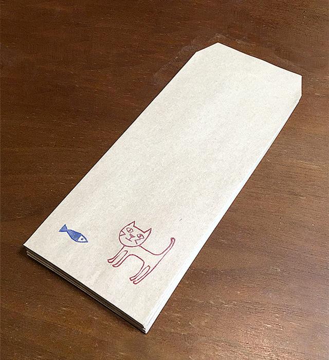 ネコとさかな 長封筒15枚セット