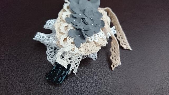 革花とレースのバレッタ
