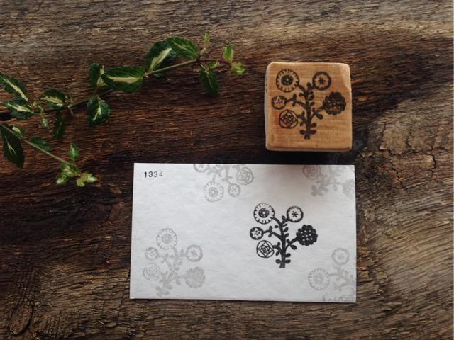 1334-1600 はんこ「五種一輪の花」