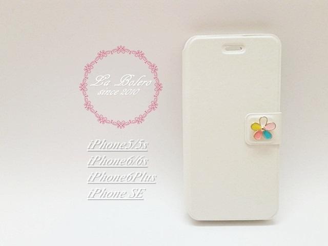 9772b41a03 【iPhone全機種】カラフルな小花が可愛いiPhoneケース(ホワイト)/アイフォンケース/アイホンケース
