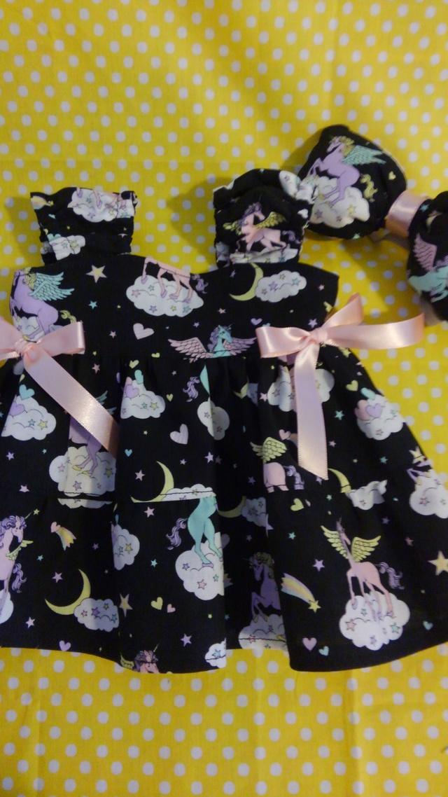 シェリーメイ◆お洋服◆ユニコーン柄◆黒