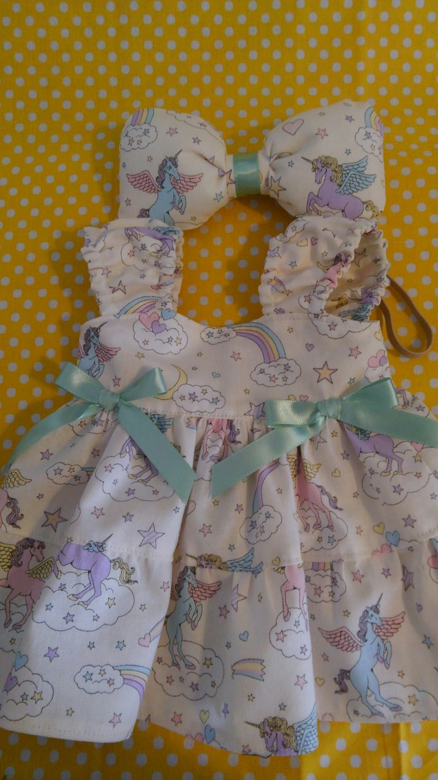 【sale】シェリーメイ◆お洋服◆ユニコーン柄◆白