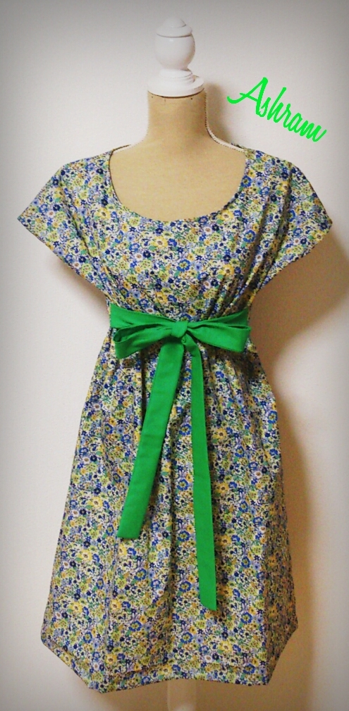 simple*One Piece:Libertytype springgreen Ribbon