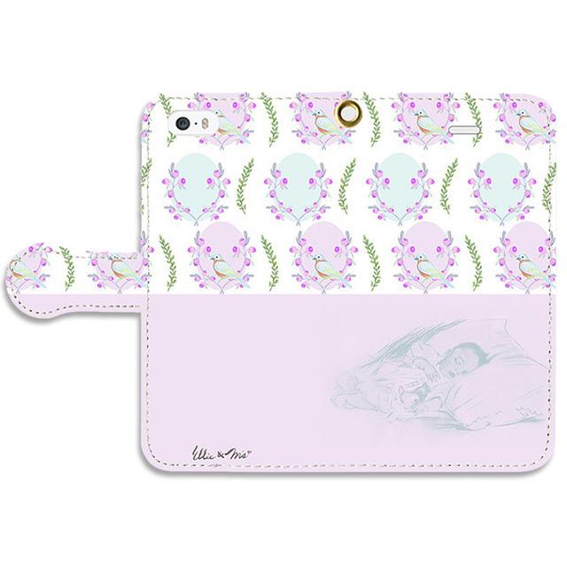 おやすみBaby 手帳型スマホケース iPhone5/5s/SE