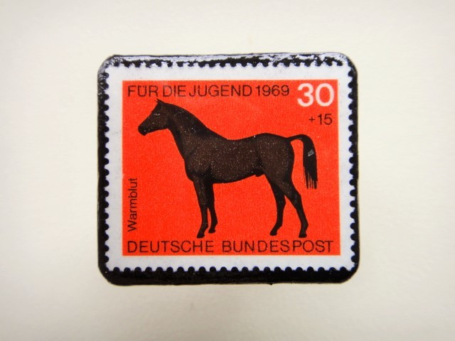 ドイツ 馬切手ブローチ1261