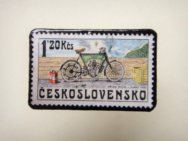 チェコスロバキア 切手ブローチ1263