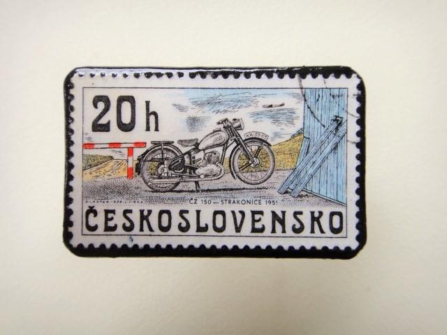 チェコスロバキア 切手ブローチ1265