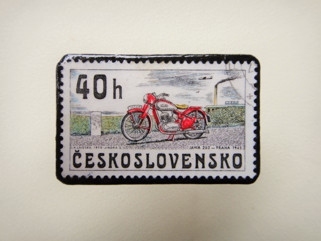 チェコスロバキア 切手ブローチ1266
