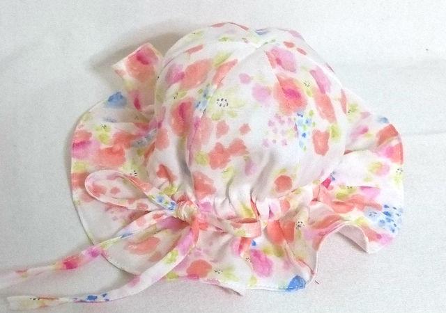 水彩花柄ガーゼチューリップF48 セール