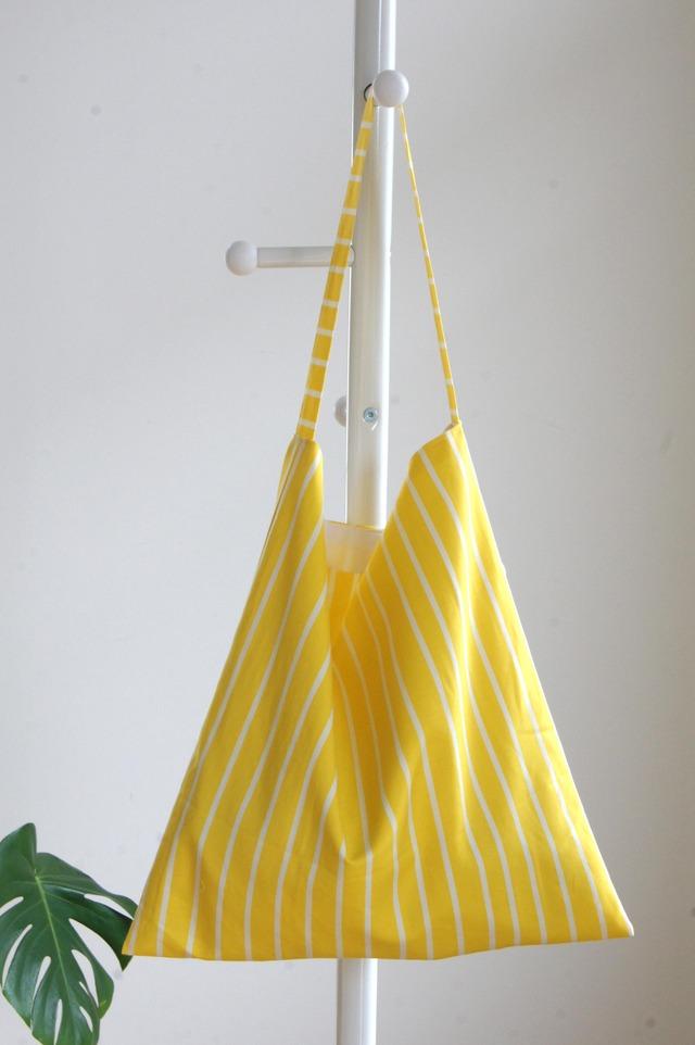 【ysdmskさまご予約分】黄色のストライプのワンハンドルバッグ