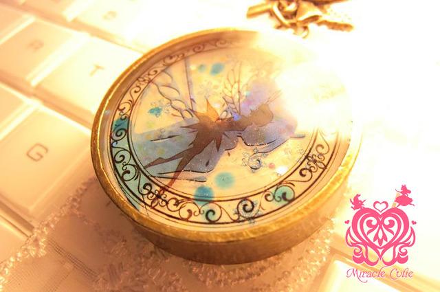 (夜光)雪の結晶入り妖精のバッグチャーム
