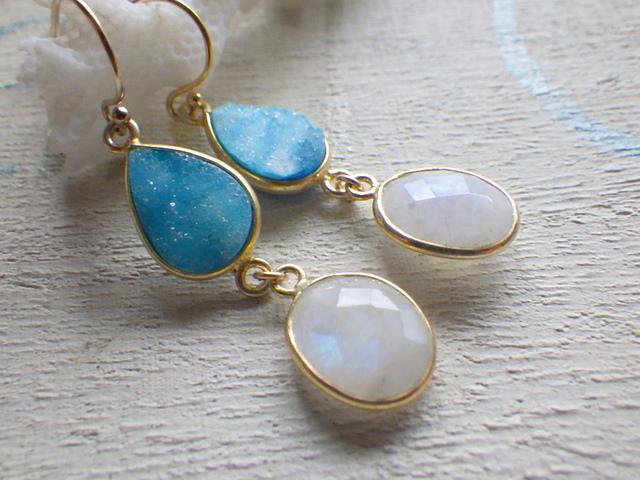 Sand bar earrings --14kGF