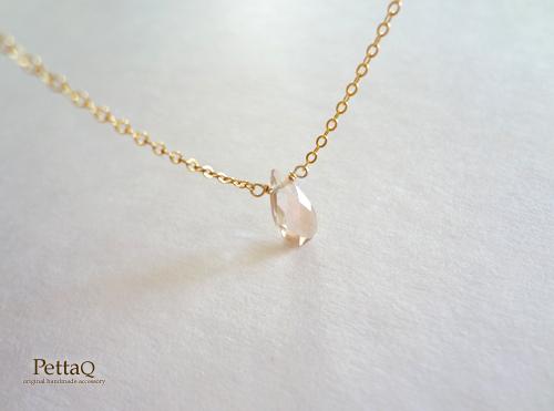 1点もの【14KGF】宝石質オレゴンサンストーンのネックレス