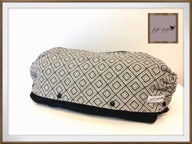 【Msize:裏地デニム】上品なグレーの織り_抱っこ紐収納ケース