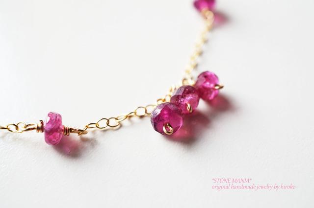 ?14kgf?amulet?pink tourmalin?bracelet?