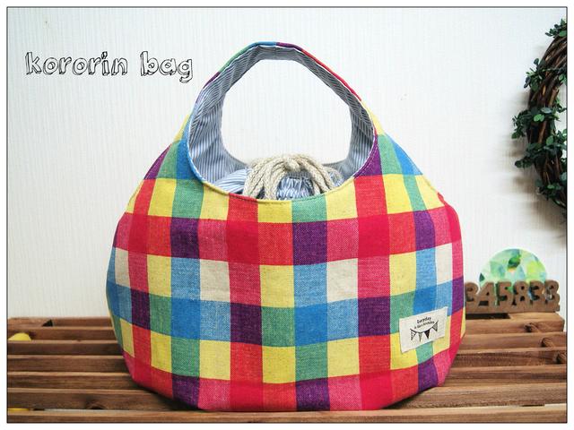 【 kororin bag 】マルチカラーブロックチェック