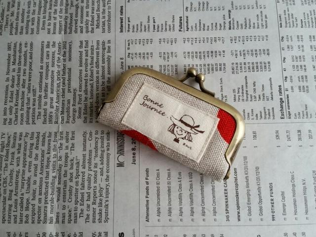 印鑑ケース(赤色水玉)