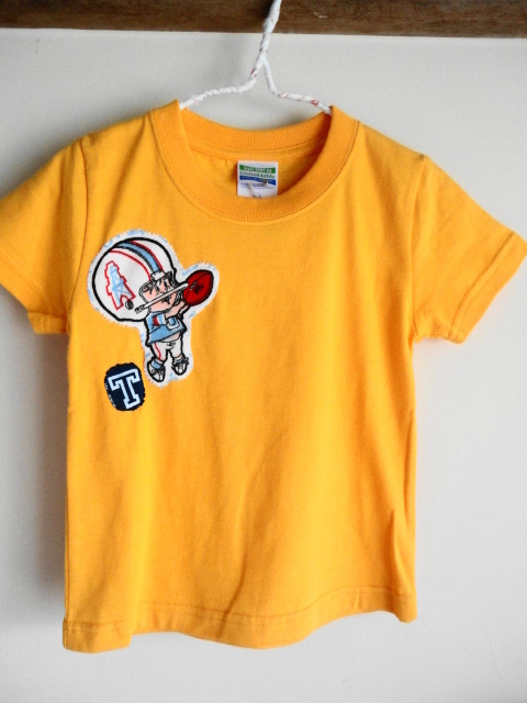 新品 Tシャツリメイク アメフト柄 イエロー 100サイズ