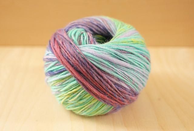 50g -夢見がちな象- メリノ アンゴラ 紫  ゾウ 手紡ぎ 単糸