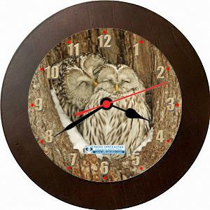 壁掛時計「エゾフクロウ 1」