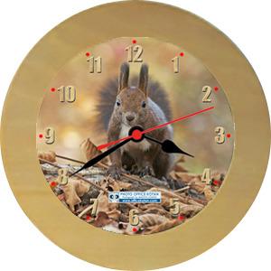 壁掛時計「エゾリス 2」