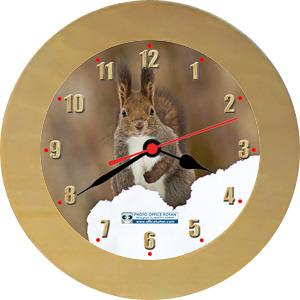 壁掛時計「エゾリス 3」