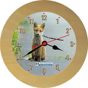 壁掛時計「キタキツネ 1」