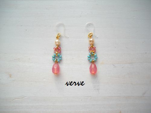 <再販>Candy drop pierced earrings 樹脂ピアス