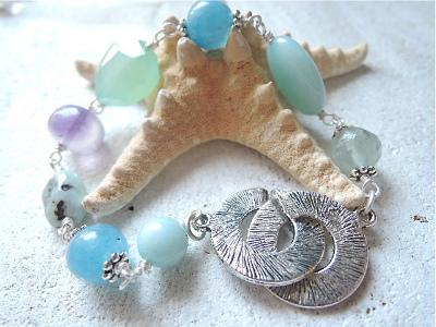 Ocean Stones   寒色天然石のブレスレット