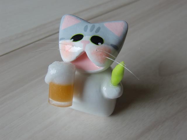 送料無料♪ ビールで乾杯♪ネコ♪