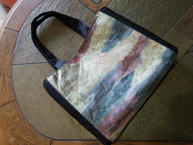 アート調名古屋帯のトートバッグ