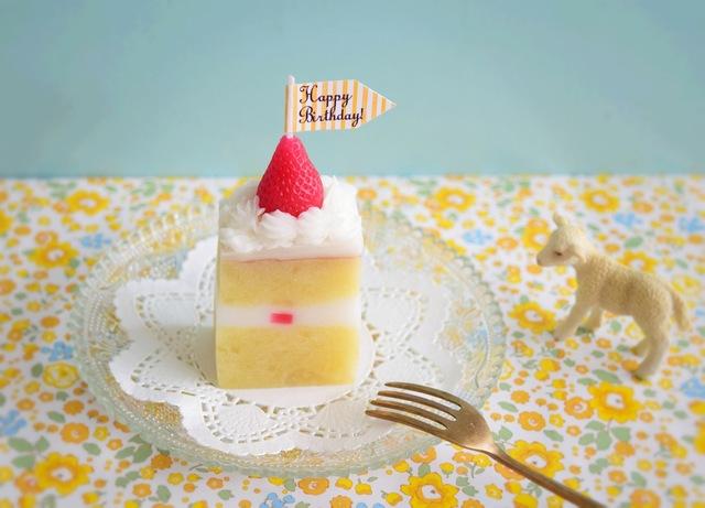 シンプルショートケーキのキャンドル