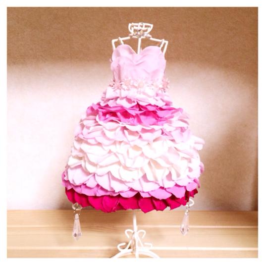 【送料無料!】プリザーブドのローズドレス