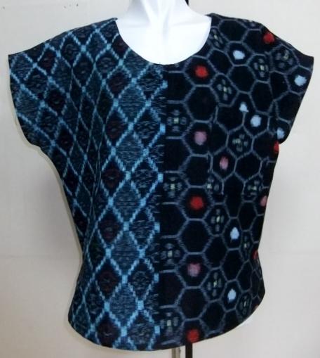 着物リメイク 絣の着物で作ったTシャツ 1571