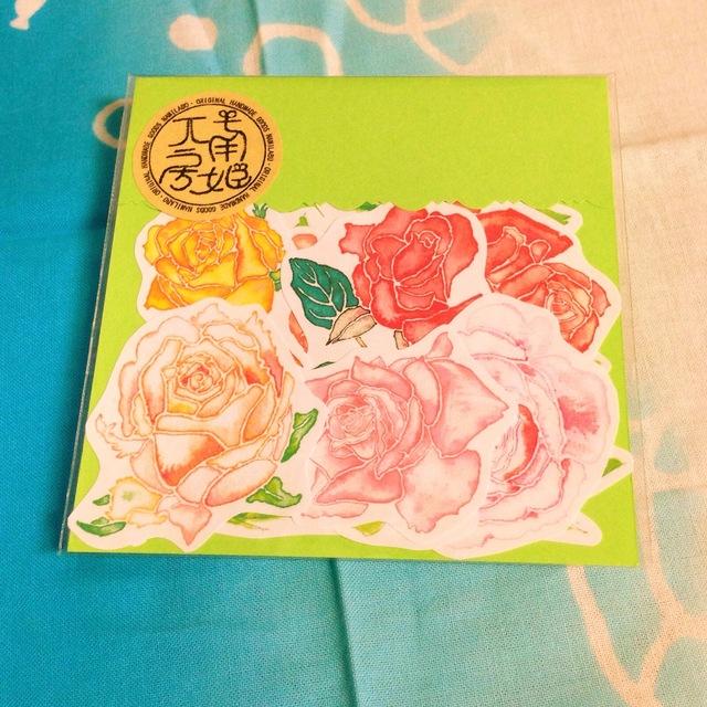 【ナミラボ】バラのシール