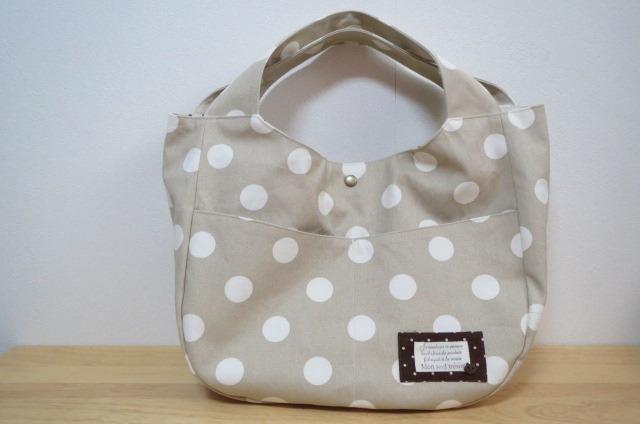 【アウトレット】水玉帆布のバッグ