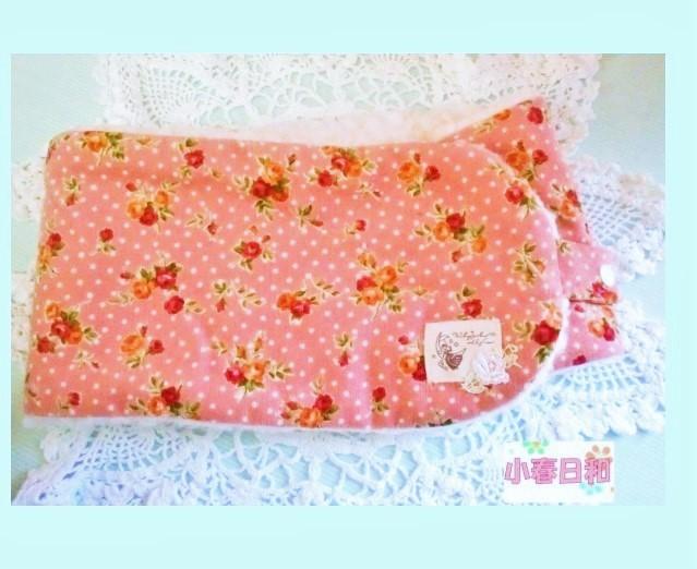 ピンク花柄 裏ボアのネックウォーマー