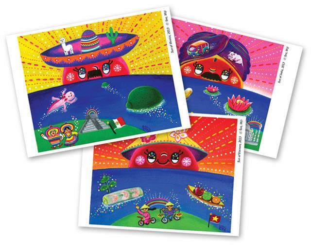 【ポストカード】世界の太陽(3枚セット)