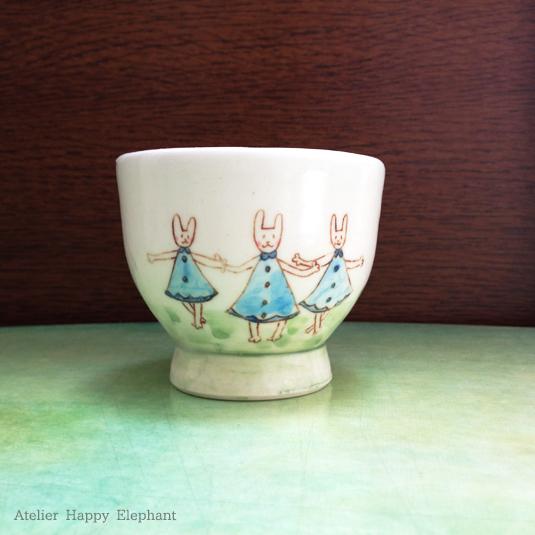 森の暮らしカップ 《うさぎ3姉妹》