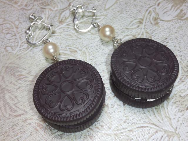 ★イヤリング★チョコクッキー★シンプル★スイーツ★