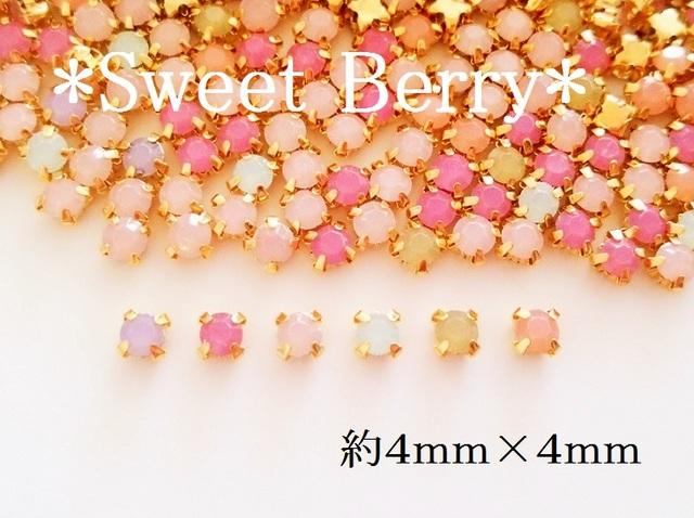 4mm ビジュー用 樹脂製オパールカラー 50個(ピンク系)